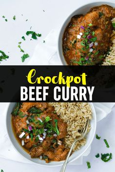This CROCKPOT Beef Curry is a simple, prepare ahead midweek meal. A tasty 'fakeaway' curry, the slow cooked beef pieces are cooked in a tomato sauce. This beef stew style curry is also easily adaptable to the Slimming World or Weight Watchers plan as it's light, healthy and low fat. Slow Cooker Beef Curry, Slow Cooked Beef, Slow Cooker Recipes, Meat Recipes, Crockpot Recipes, Family Recipes, Family Meals, Meat Dish, Midweek Meals