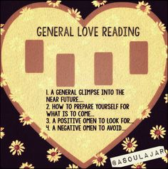 General Love Tarot Card Layout | Romance Reading | Heart Spread | Oracle Cards…
