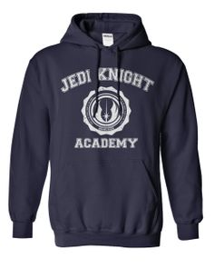 Jedi Knight Academy sweatshirt. Available in blue, black, and red!