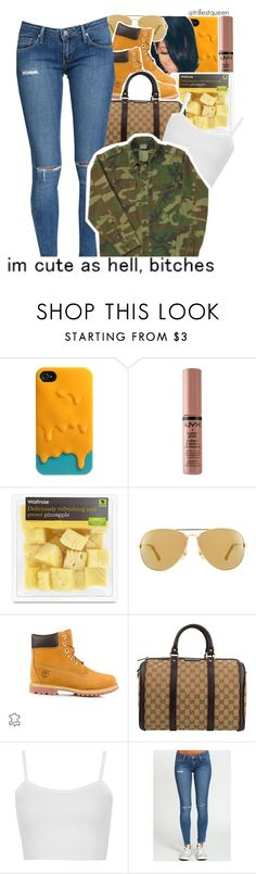 """Edited 01-30-2017."" by trillestqueen ❤ liked on Polyvore featuring Michael Kors, Timberland, Gucci and Topshop"