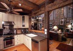 Dream Kitchen into open living room!!