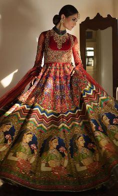 Nov 2019 - Nomi Ansari Latest Heavy Embroidered Bridal Dresses Collection consists of colorful beautifully embellished heavy bridal lehengas, sarees, gowns Designer Bridal Lehenga, Indian Bridal Lehenga, Pakistani Bridal Dresses, Indian Dresses, Pakistani Lehenga, Sabyasachi, Pakistani Wedding Outfits, Indian Bridal Outfits, Mehendi Outfits