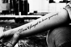 Tattoo with some wise words...