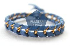 oh macedonia: DIY Pulsera espiga con cadena