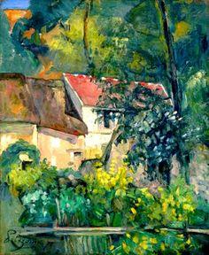 La maison du père Lacroix (1873)  Huile sur toile (61 x 51)  Paul Cézanne - reminds me of a painting my father painted..