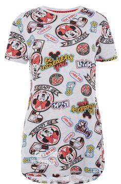 Grey mickey t-shirt disney shirts, disney outfits, disney clothes, disney. Night Shirts For Women, Shirts For Teens, Cute Pjs, Cute Pajamas, Disney Outfits, Disney Clothes, Disney Fashion, Women's Fashion, Fashion Outfits