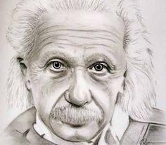 Charcoal Portraits Albert Einstein