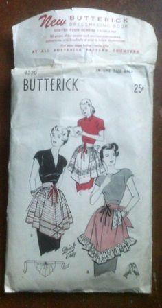 1940's Butterick Apron Pattern 4556