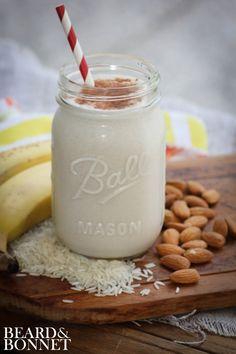Smoothies Horchata Coconut Milk Smoothie (Gluten-Free and Vegan) Coconut Milk Smoothie, Juice Smoothie, Smoothie Drinks, Smoothie Bowl, Healthy Smoothies, Healthy Drinks, Smoothie Recipes, Banana Coconut, Coconut Rum