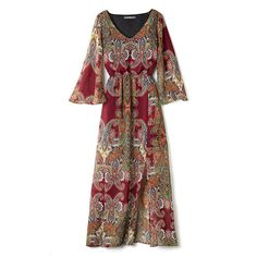 Chic with a modern edge! The Printed Chiffon Maxi in paisley print features a side slit to give this stunning '70s showstopper a modern twist. Regularly $29.99, shop Avon Fashion online at http://eseagren.avonrepresentative.com