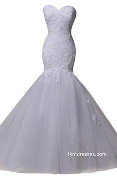 Sweetheart Mermaid Lace Bridal Gowns Wedding Dresses http://www.ikmdresses.com/Sweetheart-Mermaid-Lace-Bridal-Gowns-Wedding-Dresses-p88186