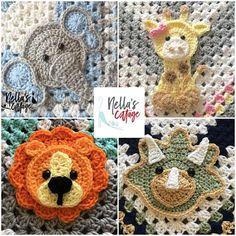 CROCHET ZOO ANIMALS - Pdf Download - Pattern Only - Lion - Elephant - Giraffe - Triceratops - Crochet Patterns - Crochet Gift - Baby Gift