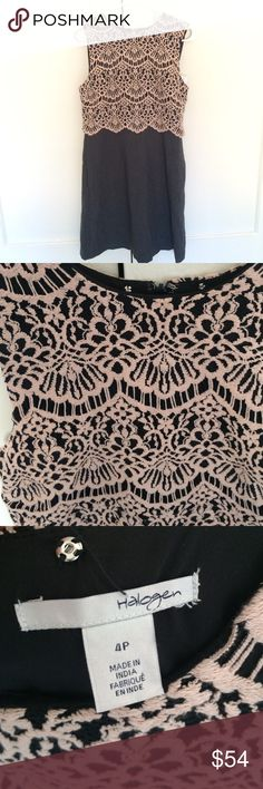 Halogen dress In wonderful condition, a pink nude lace on the top, dark gray bottom. Halogen Dresses Mini