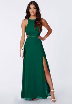 Green Cut Out Dress