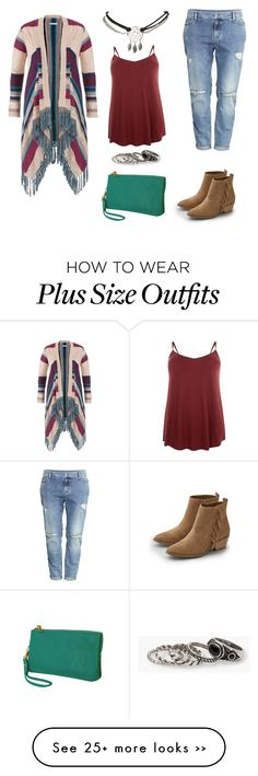 """Plus Size Native Influenced Casual"" by iknaq on Polyvore featuring maurices, H&M, American Eagle Outfitters, Humble Chic, Wet Seal and MANGO"