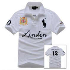 Ralph Lauren Big Pony 2012 London Olympic White Short Sleeved Polo  http://www.ralph-laurenoutlet.com/