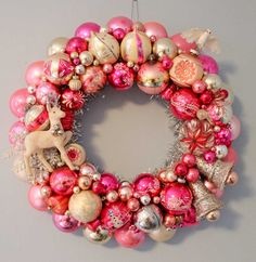 Pam's pink and pearl wreath, Wreath Mania 2013.