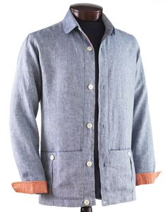 J. Press D.S.Dundee - Washed Linen Painters Jacket