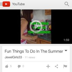 We made a Video for all you people who are bored in the summer. FUN THINGS TO DO IN THE SUMMER!
