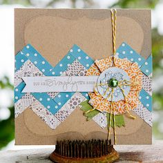 "Homespun Kit ""You are simply the best"" card by Kimberly Neddo"