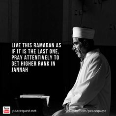 Live this ramadan as if its your last one. Muslim Quotes, Islamic Quotes, Ramadan, Doa, Religion, Peace, How To Get, Live, Sobriety