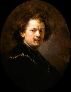Rembrandt van Rijn - auto-portrait avec la tête entbloesstem,(1633)