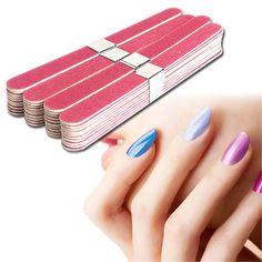 40pcs Nail File Manicure Pedicure Buffer Sanding Files Wood Crescent Sandpaper Grit Nail Art Tool Wholesale free shipping