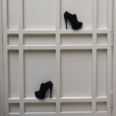 Viola Suede Booties - Forget the shoes! Look at the ledges. Genius way to store shoes in a muck less bulky way!!