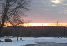 Dawn, the Neponset River valley, Westwood, Massachusetts