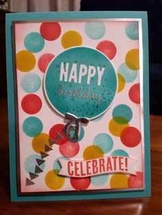 Stampin' Up - Michelle Johnstone - occasions catty 2015 - celebrate today,  balloon framelits,  silver foil http://www.stampinup.net/esuite/home/michellejstamping/