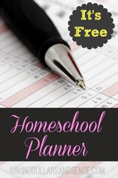 This FREE Homeschool Curriculum Planner is the one I use and it is a great feeling to be prepared when the new year starts back up! #SavingDollars