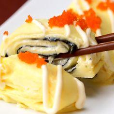 おつまみにどうぞ!海苔とチーズの卵焼き