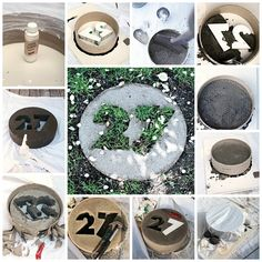 House Number Paver   22 Seriously Cool Cement Projects You Can Make At Home