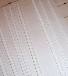 how to: fancy wood trim/moldings (Very easy...lace/trim is glued to wood, then painted.)