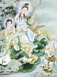 Beautiful painting of Kwan -Yin, Goddess of Mercy