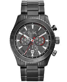 Michael Kors Men's Chronograph Richardson Black-Tone Stainless Steel Bracelet Watch 45mm MK8352 - Men's Watches - Jewelry & Watches - Macy's