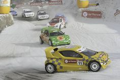 """ELECTRIC SNOW RACING Val Thorens.(France) --- ADRIEN TAMBAY , son of former F1 driver Patrick Tambay, was unbeatable during the first two races of the """"Trophée Andros Electrique""""."""