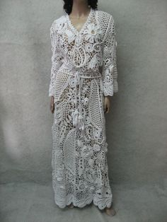 The glorious handmade maxi dress  Crochet white by TalitaHandMade