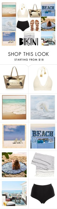 """""""∞ Beach"""" by andrea-moen ❤ liked on Polyvore featuring River Island, SHE MADE ME, WALL, Improvements, Pier 1 Imports, La Perla, Billabong, beach and beachstyle"""