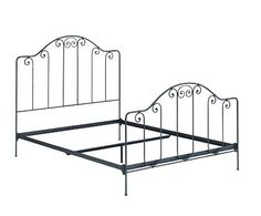 Breton Hand Forged Iron Bed- Silhouette w/o Bedding