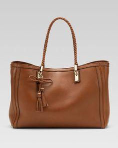 V1CNA Gucci Bella Medium Tote Bag, Cuir