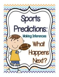 "This product includes 4 sports themed worksheets for students who are learning to make predictions. Students read a short paragraph, make predictions about what will happen next and are asked to cite evidence from the text. Product includes a ""How to Use this Product Sheet"", 4 predictions worksheets and 4 matching answer keys."