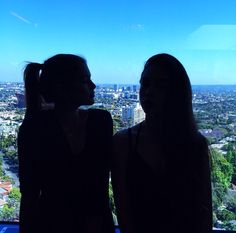 Kaia Gerber and her friend My Best Friend, Best Friends, Kaia Gerber, Cindy Crawford, Twins, I Am Awesome, Silhouette, Pictures, Photos