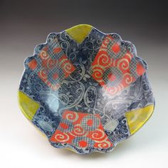 Large ceramic bowl great as a centerpiece fruit by AderoWillard, $225.00