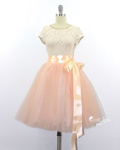 A personal favorite from my Etsy shop https://www.etsy.com/listing/225873212/clarisa-blush-peach-tulle-skirt-nude