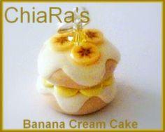 Banana Cake Polymer Clay Charm. $3.00, via Etsy.
