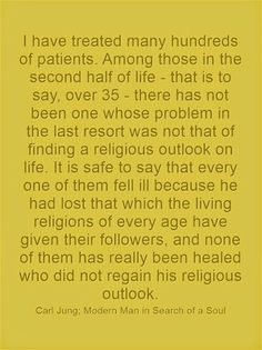 I have treated many hundreds of patients. Among those in the second half of life - that is to say, over 35 - there has not been one whose pr...
