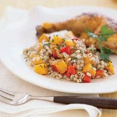15 Hearty Barley Recipes, including this one! Don't forget to use whole hull-less barley to make it Healthy Side Dishes, Healthy Eating Recipes, Healthy Cooking, Vegetarian Recipes, Cooking Recipes, Skillet Recipes, New Recipes, Salad Recipes, Recipies