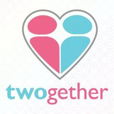 Twogether Logo ... love this play on words & shape.