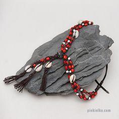 Multi Strand Tribal necklace made from by PiekielkoEtnoJewelry